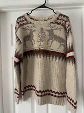 LL Bean 100% Wool Men Size Large Purple Pullover Sweater