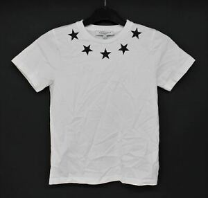 GIVENCHY Boys White 100% Cotton Crew Neck Short Sleeve T-Shirt Size 10 Years