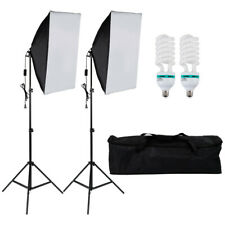 Photography Studio 3 Soft Box LED Light Stand Continuous Lighting Kit Diffuser