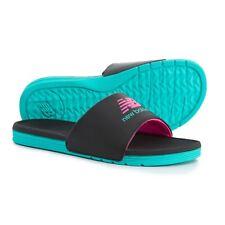New Balance Womens Black Lightweight Slides Comfort Sandals size 8 FREE SHIP