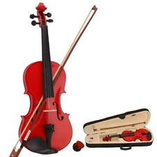 More details for new 4/4 size violin with bow rosin string soft case for beginner practice