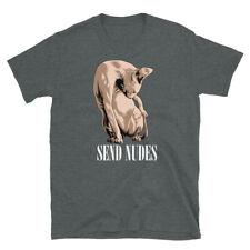 Funny Sphynx Hairless Cat Send Nudes Short-Sleeve Unisex T-Shirt