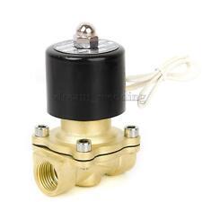 "12V 1/2"" Messing Elektro Magnetventil Wasser Luft Brennstoffe Gas Normal"