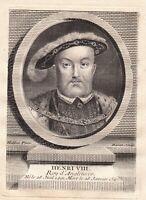 Portrait XVIIIe Henri VIII Roi D'Angleterre Irlande Tudor Henry VIII of England