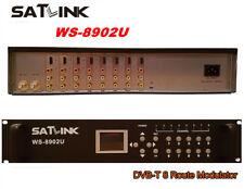 Original SATLINK WS-8902U DVB-T 8 Route Modulator HD 1080P MPEG4 HDMI/AV H.264