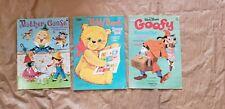 Vintage Whitman Artcraft Disney Mother Goose Teddy Bear Sticker Book Lot