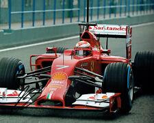 Kimi RAIKKONEN SIGNED Ferrari SANTANDER F1 Autograph 10x8 Photo AFTAL COA RARE