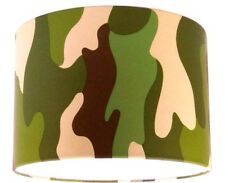 "30cm/12"" Lampshade Handmade with Green Camouflage Wallpaper Khaki"