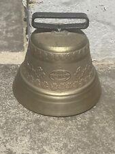 More details for vintage 1swiss original cow large rare bronze bell signed gusset uetendorf