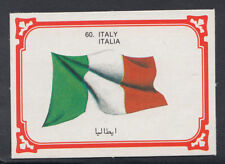 Monty Gum 1980 Flags Cards - Card No 60 - Italy (T656)