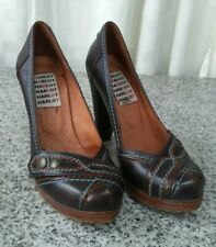 Women's High Heel Leather Shoes Harlot Size 37