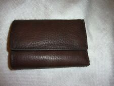 Perry Ellis genuine leather wallet key holder trifold brown soft leather card