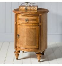 French Finest Ash & Walnut Wood Dining Drum Table / Side Table / End Table