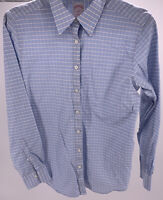 "Women's Brooks Brothers ""346"" Blue & White Plaid Button Up Shirt Size 6"