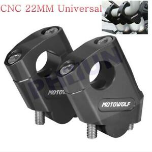 "CNC Motorcycle Handlebar Riser Mount Clamp 22mm 7/8"" Bar Clamp for suzuki yamaha"