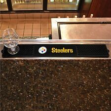 "Pittsburgh Steelers 3.25"" x 24"" Bar Drink Mat - Man Cave, Bar, Game Room"