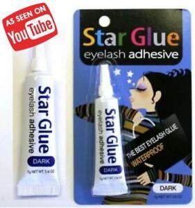 Star Glue Eye Lash Lashes Best Adhesive Waterproof Long Lasting Black 7g Strong!