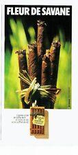 PUBLICITE ADVERTISING 027  1979  cigares Wilde  Fleur de Savane
