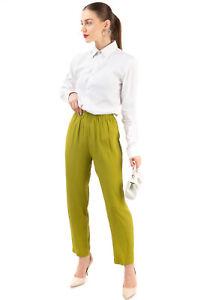 RRP €130 PIERANTONIO GASPARI Trousers Size IT 38 / XS Silk Blend Made in Italy