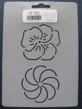Stencil Quilting 2.5 inch Flowers #440 Reusable Airbrush Durable (6.4 cm) Qc