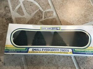 4 Life Like Small Evergreen Trees new sealed