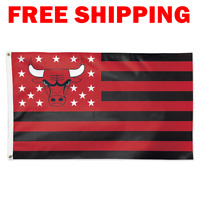 Deluxe Chicago Bulls Stars Stripes Flag 2018 NBA Basketball Fan Banner 3X5 ft