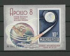 Raumfahrt, Space, Apollo - Ungarn - Bl.68 B ** MNH 1969