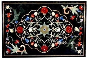 24 x 36 Inches Marble Coffee Table Top Peitra Dura Art Decent look Island Table