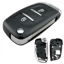 2Button Flip Car Key Fob Case Shell Fit For Peugeot 107 207 307 307S 308 407 607