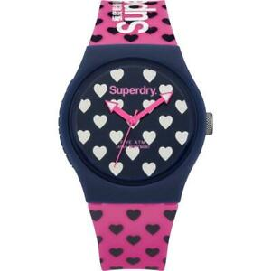 Superdry Urban Pink Silicone Strap Watch SYL168UP