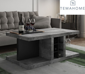 """TemaHome Detroit Bar Coffee Table Concrete Effect """"Brand New Boxed"""""""