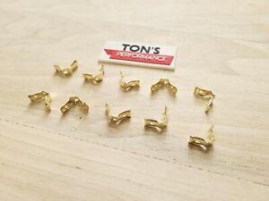 10 Pieces Brass Spark Plug  Distributor Wire Terminal Ends - Motorcraft 5301 NEW