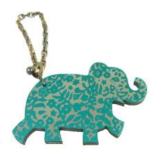 Auth HERMES Vintage Elephant Motif Leather Key Chain Holder Bag Charm NR11703