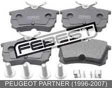 Pad Kit, Disc Brake, Rear - Kit For Peugeot Partner (1996-2007)