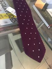 $280 New Tom ford Knit Purple Silk Tie