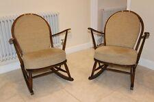 2 Vintage retro mid century ercol rocking chairs