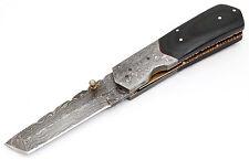 Damast Messer Jagdmesser Klappmesser Taschenmesser Damascus folding knife Tanto