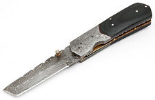 Cuchillo damascos cuchillo de caza plegable Cuchillo con bolsa Damascus Folding Knife tanto
