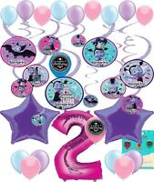 Vampirina Party Supplies (Choose Your Own Age) Birthday Hanging Swirls and Ba...