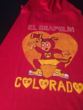 Childrens Mexican Red and Yellow Wrestling Hood and Cape El Chapulin