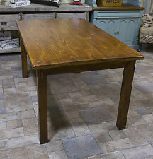Rectangular Dining Table Farmhouse Walnut Oak Top Seat 4 or 6 People Brown