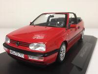 Norev Volkswagen Golf Cabriolet 1995 Rouge 1/18 188433 1