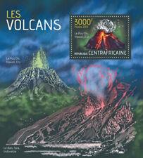 Central Africa 2013 Volcanos On Stamps Stamp Souvenir Sheet 3H-582