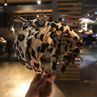Fashion Women's Twist Hairband Leopard Wide Knot Headband Hair Hoop Accessories