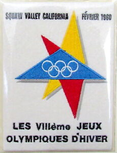 1960 WINTER OLYMPICS VIII Squaw Valley USA ~ OLYMPIC GAMES PATCH Willabee & Ward