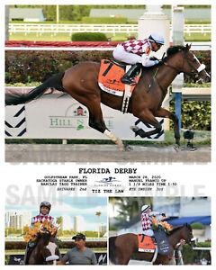 TIZ THE LAW FLORIDA DERBY COMPOSITE PHOTO 10 X 8