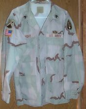 Mens Size Large BDU Uniform Jacket Shirt Desert Camo 8415-01-327-5313 US Army 1