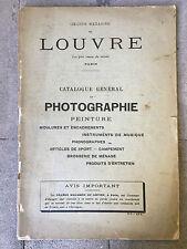 CATALOGUE MAGASINS DU LOUVRE PHOTOGRAPHIE