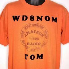 ed50ca08c Amateur Ham Radio T Shirt Vintage 80s WD8NOM Michigan 50/50 Made In USA Size