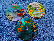 3X LOT DVD DISNEY Many Adventures Winnie the Pooh,TIGGER CHRISTMAS,SMALL WORLD